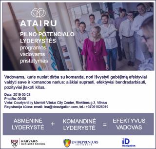 Atairu Pilno Potencialo Lyderyste Programos pristatymas kvietimas 05-28
